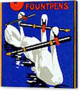 1920 Swan Fountain Pens Canvas Print