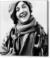 1920s 1930s Smiling Woman Dressed Canvas Print