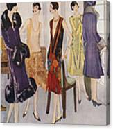1920s Fashion  1925 1920s Uk Womens Canvas Print