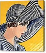 1920s Sun Hat Canvas Print