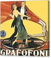 1922 - Columbia Gramophone Company Italian Advertising Poster - Color Canvas Print