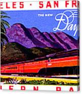 1922 Daylight Railroad Train Canvas Print