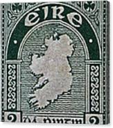 1922 Ireland Eire Stamp Canvas Print