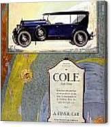 1923 - Cole 890 - Advertisement - Color Canvas Print