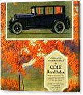 1923 - Cole Royal Sedan - Advertisement - Color Canvas Print