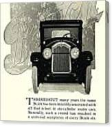 1924 - Buick Six Advertisement Canvas Print
