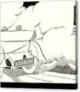 1924 - Georges Irat La Voiture D'elite French Automobile Advertisement Canvas Print
