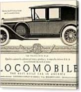 1924 - Locomobile Victoria Sedan Automobile Advertisement Canvas Print