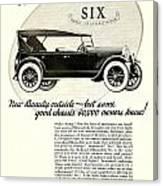 1924 - Oldsmobile Six Automobile Advertisement Canvas Print