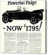 1924 - Paige Automobile Advertisement Canvas Print