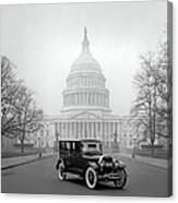 1924 Ford Lincoln At U. S. Capitol Canvas Print