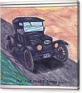 1924' Ford Model-t Touring Canvas Print