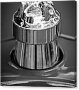 1924 Ford T Roadster Hood Ornament -331bw Canvas Print