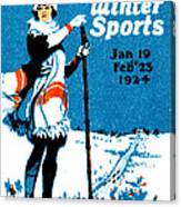 1924 Montreal Winter Sports Poster Canvas Print