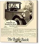 1925 - Buick Automobile Advertisement Canvas Print