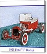 1925 Ford Hot Rod T-bucket Canvas Print