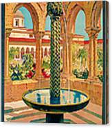 1925 Monreale Vintage Travel Art Canvas Print