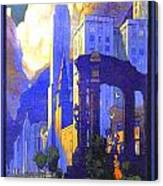 1926 - New York Central Railroad - Chicago Travel Poster - Color Canvas Print