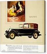 1926 - Packard Automobile Advertisement - Color Canvas Print