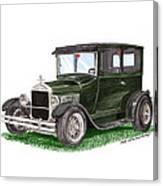 1926 Ford Tudor Sedan Street Rod Canvas Print