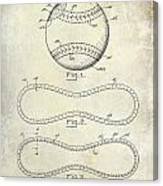 1928 Baseball Patent Drawing  Canvas Print