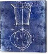 1928 Milk Pail Patent Drawing Blue Canvas Print