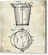 1928 Milk Pail Patent Drawing Canvas Print