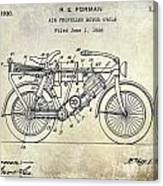 1928 Motorcycle Patent Drawing Canvas Print