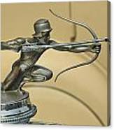 1928 Pierce Arrow Helmeted Archer Hood Ornament Canvas Print