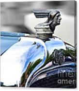 1928 Pontiac Hood Ornament And Badge Canvas Print