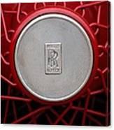 1928 Rolls-royce Phantom I Sedenca De Ville Wheel Emblem Canvas Print