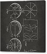 1929 Basketball Patent Artwork - Gray Canvas Print