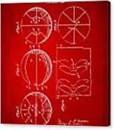 1929 Basketball Patent Artwork - Red Canvas Print