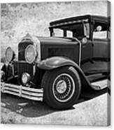 1929 Buick Black And White Canvas Print