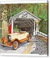 1929 Chrysler 65 Covered Bridge Canvas Print