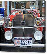 1929 Mercedes Benz Front Grill Canvas Print