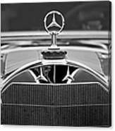 1929 Mercedes-benz S Erdmann - Rossi Cabiolet Hood Ornament Canvas Print