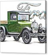 1929 Model A Ford Truck Canvas Print