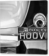 1930 Db Dodge Brothers Taillight Emblem -030bw Canvas Print