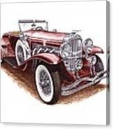 1930 Dusenberg Model J Canvas Print