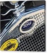 1930 Ford Model A - Radiator N Grill - 7479 Canvas Print