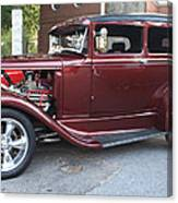 1930 Ford Two Door Sedan Side View Canvas Print