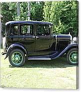 1930 Model-a Town Car 1 Canvas Print