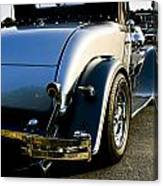1930 Plymouth Bumper And Tail Light Canvas Print