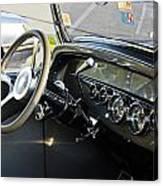 1930 Plymouth Dashboard Canvas Print
