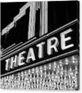 1930s 1940s Theater Marquee Theatre Canvas Print