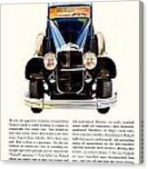 1931 - Packard Automobile Advertisement - Color Canvas Print