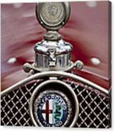 1931 Alfa-romeo Hood Ornament Canvas Print