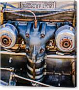 1931 Bentley 4.5 Liter Supercharged Le Mans Engine Emblem Canvas Print