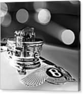 1931 Bentley 4.5 Liter Supercharged Le Mans Hood Emblem -1122bw Canvas Print